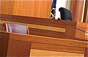 Witness Stand in a Clerk Magistrate's Hearing